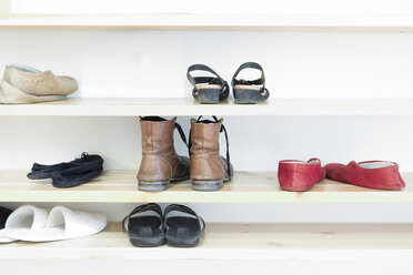 Shoes in a shelf in a meditation center - CMF00855