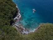 Indonesia, Bali, Aerial view of Blue Lagoon beach - KNTF01815