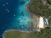 Indonesia, Bali, Aerial view of Blue Lagoon beach - KNTF01818
