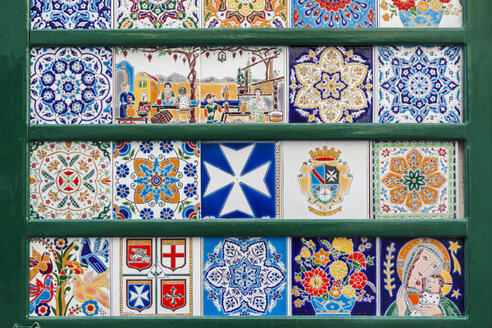 Italy, Campania, Amalfi, artisanal tiles on sale - FLM00075