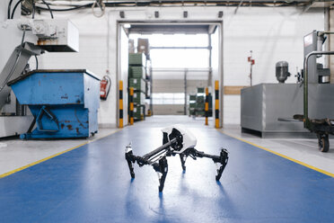 Drone on floor of a factory workshop - KNSF04912