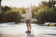 Portrait of a little boy , wearing trunks - AZOF00063