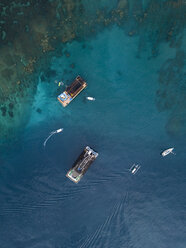 Indonesia, Bali, Aerial view of bathing platform - KNTF01865