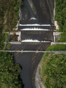 Indonesia, Bali, Aerial view of bridge and river - KNTF01889