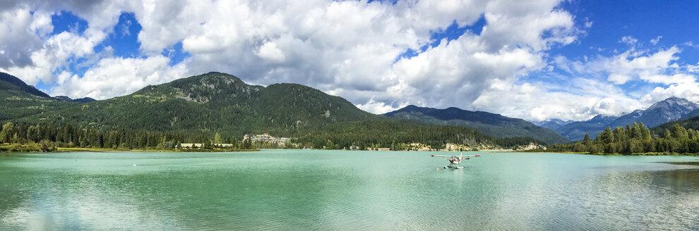 Panorama of Green Lake, Whistler, British Columbia, Canada - AURF06666