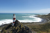 New Zealand, North Island, Wellington, South Wairarapa, Cape Palliser, Lighthouse - MKFF00401