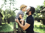 Father and little son spending time together outdoors - HAPF02730