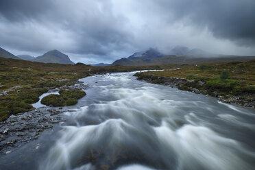 United Kingdom, Scotland, Scottish Highlands, Isle Of Skye, Cuillin Mountains, Sligachan River - RUEF02000