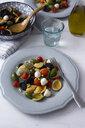Mediterranean orecchiette with tomato, olives, mozzarella - GIOF04541