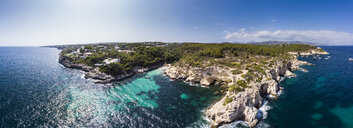Spain, Mallorca, Aerial view of bay Cala Falco and Cala Bella Donna - AMF05978