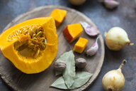 Ingredients of pumpkin soup - JUNF01347