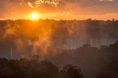 Iguazu Falls at sunset, Parana, Brazil - AURF07674