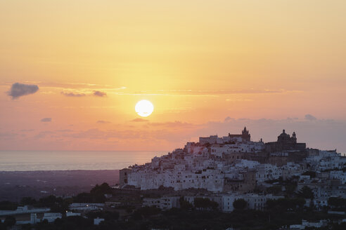 Italy, Puglia, Ostuni at sunrise - MRAF00337