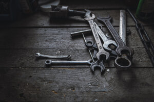 Group of wrenches on wood - KKAF02397