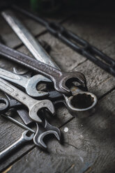 Group of wrenches on wood - KKAF02400