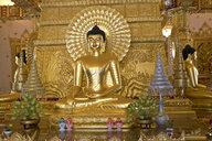 Thailand, Ubon Ratchathani, Wat Phra That Nong Bua, Shrine, Buddha statue - ZC00676