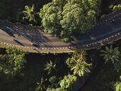 Indonesia, Bali, Ubud, Aerial view of bridge - KNTF01984