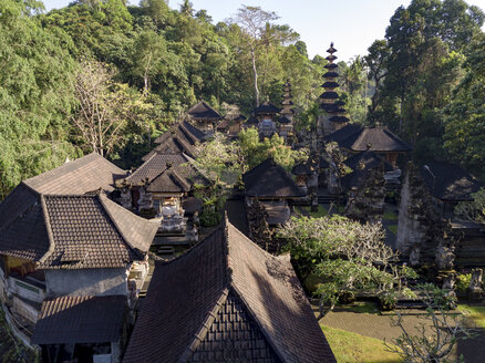Indonesia, Bali, Ubud, Aerial view of Balinese temple - KNTF01990