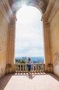 Tourist at gardens, Tivoli, Lazio, Italy - CUF44241