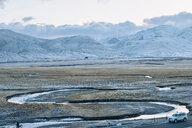 Winding streams, Zhongba, Xizang, China - CUF44415