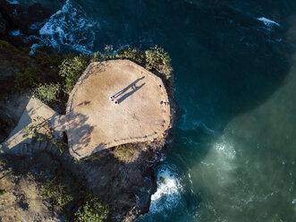 Indonesia, Bali, Aerial view of viewpoint at Balangan beach - KNTF02043