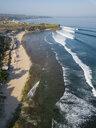 Indonesia, Bali, Aerial view of Balangan beach - KNTF02046
