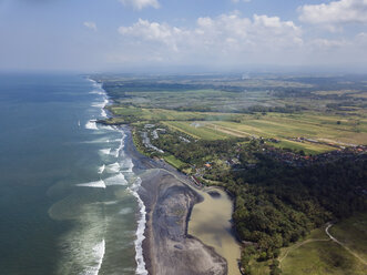 Indonesia, Bali, Aerial view of Yeh Gangga beach - KNTF02085