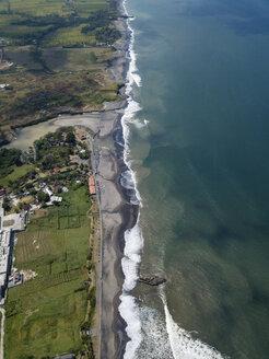Indonesia, Bali, Aerial view of Yeh Gangga beach - KNTF02097