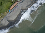 Indonesia, Bali, Aerial view of Yeh Gangga beach - KNTF02106