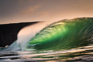 Riley's wave, a giant barreling wave, Kilkee, Clare, Ireland - CUF44861