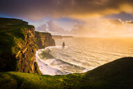 Cliffs of Moher at sunset, Doolin, Clare, Ireland - CUF44882