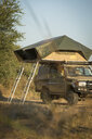 Safari 4x4 with roof tents in South Luangwa National Park, Zambia - LUXF00522