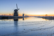 Netherlands, Holland, Rotterdam, Kinderdijk in the evening - RPSF00244