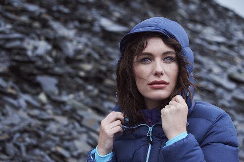 Portrait of woman wearing hood - LUXF00738