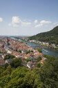 Germany, Baden-Wuerttemberg, Heidelberg, Neckar river, City view with Charles-Theodore-Bridge - WIF03637