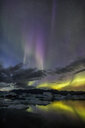 Beautiful scenic view of the Aurora Borealis in Iceland at night - INGF00356