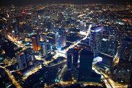 Cityscape, illuminated at night, high angle view, Kuala Lumpur, Malaysia - CUF45305