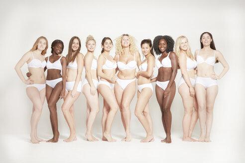 Young women posing in underwear, real women - LUXF00922