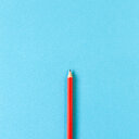 Close-up of colored pencils against white background. - INGF00534