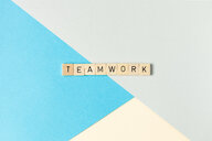 Creative paper background with text teamwork - INGF00537