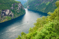 High angle view of a river surrounded by nature in Norway - INGF01164