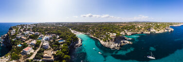 Spain, Balearic Islands, Mallorca, Aerial view of Cala Llombards - AMF06030