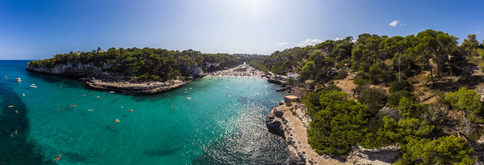 Spain, Balearic Islands, Mallorca, Aerial view of Cala Llombards - AMF06036