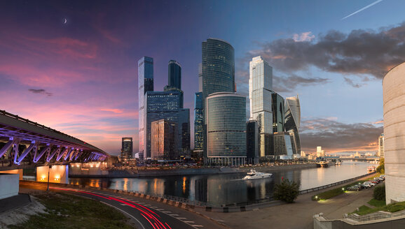 Skyscrapers in Moscow during sunset - LUXF01146