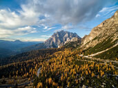 Highway and forest at the Dolomites in Italy - LUXF01158