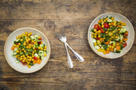 Chick pea salad with curcuma, roasted chick pea, cucumber, tomato and parsley - LVF07470