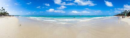 Caribbean, Dominican Republic, Punta Cana, Panoramic view of Playa del Cortecito - AMF06052