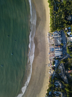 Indonesia, Bali, Aerial view of Jimbaran beach from above - KNTF02127