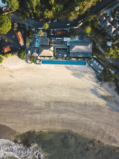 Indonesia, Bali, Aerial view of Jimbaran beach from above - KNTF02133