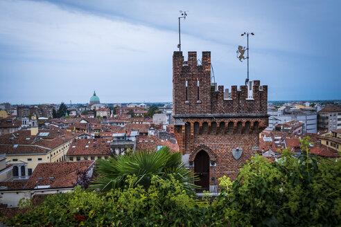 Italy, Friuli-Venezia Giulia, Udine, Tower, cityview - HAMF00495